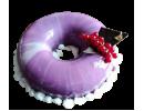 Торт Зеркальный «Мраморная смородина»
