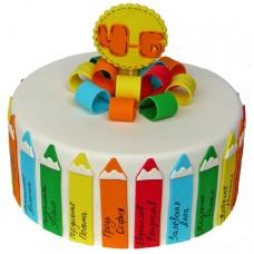 Торт на выпускной 4 класс «Карандашики»