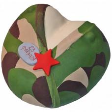 Торт в виде женского бюста в военной форме