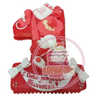 Торт на 1 год с метрикой