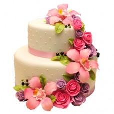 Торт «Каскад из цветов»
