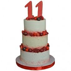 Торт с пряниками и ягодами на выпускной 11 класс