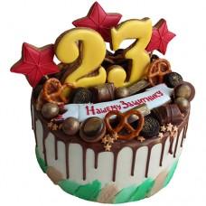 Торт для защитника на 23 февраля