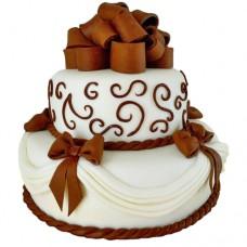Торт «Силуэт невесты»