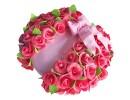 Торт с розами на юбилей женщине