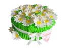 Торт с ромашками на юбилей