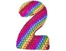 Радужный торт с конфетами в виде цифры 2