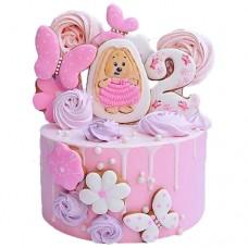 Торт на 2 года для девочки с пряниками