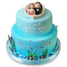 Торт «25 лет в одной лодке»