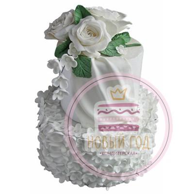 Торт «Розы на снегу»