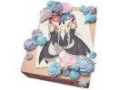 Квадратный торт «Аниме» с безе