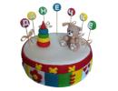 Торт «Мишка с пирамидкой»