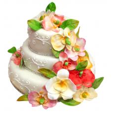 Торт «Аллея орхидей»