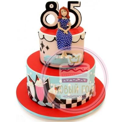 Ретро торт на 85 лет