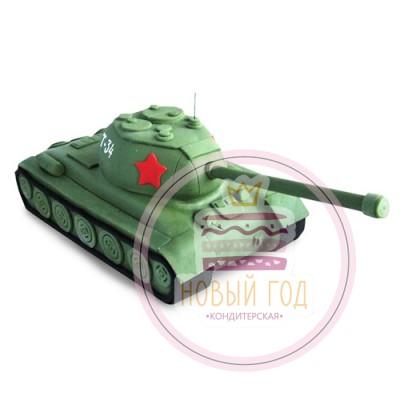 Торт в виде танка Т-34