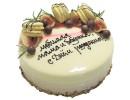 Зеркальный торт с макаронс для мамы