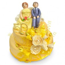 Торт «Золотая свадьба»