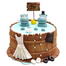 Торт «Счастливые бегемотики»