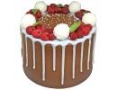 Торт «Кокос-малина»