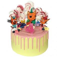 Торт без мастики «Три кота»