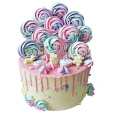 Торт с безе на полочке для девочки