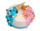 Торт для двойняшек мальчику и девочке