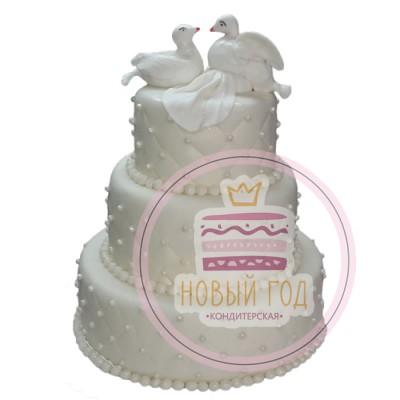Торт «Воркующие голубки»