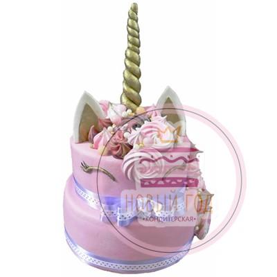 Двухъярусный торт с единорогом