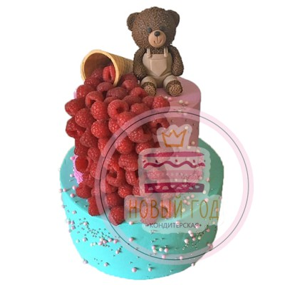 Торт «Медвежонок с малиной»