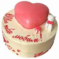 Торт с сердцем для девочки