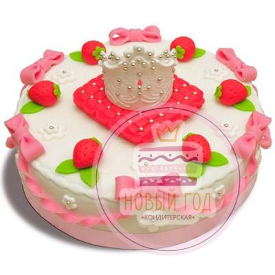 Торт с короной на подушке