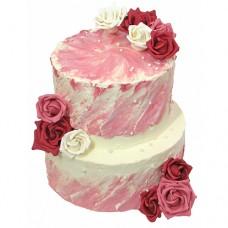 Свадебный торт «Розовый восторг»