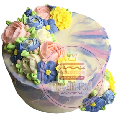 Торт на 8 марта из крема