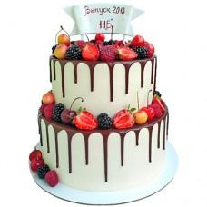 Торт на выпускной 11 класс с ягодами