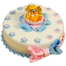Торт с цыпленком в яичных скорлупках