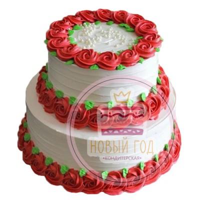 Торт «Кремовые розы»