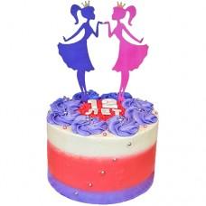Торт двойняшкам без мастики