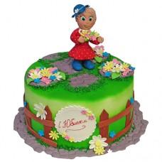 Торт с бабушкой на огороде