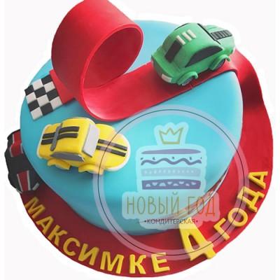 Торт в виде конструктора «Автодорога»