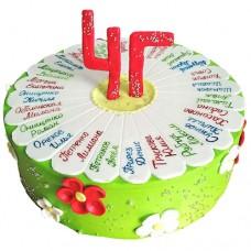 Торт на выпускной 4 класс с ромашкой