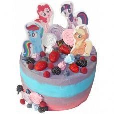 Торт с пони на день рождения