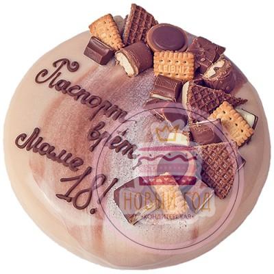 Зеркальный торт для мамы с шоколадом