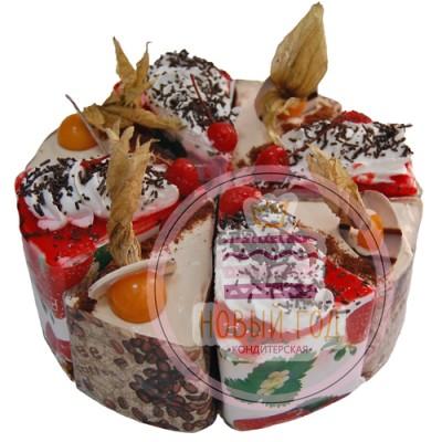 Пирожное ассорти «Йогурт-клубника+Бейлис»