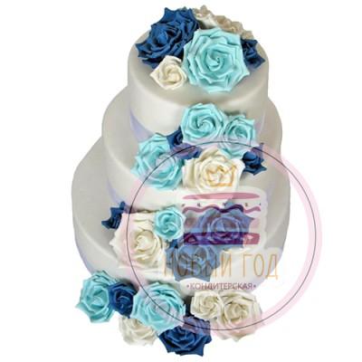 Свадебный торт «Букет из роз»