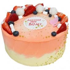 Кремовый торт на 80-летие