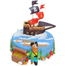 Торт «Корабль с пиратом»