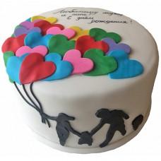 Торт на день рождения для мужа и папы