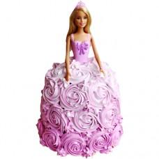 Торт-кукла в платье из крема