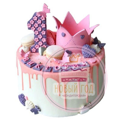 Торт на 1 год с короной