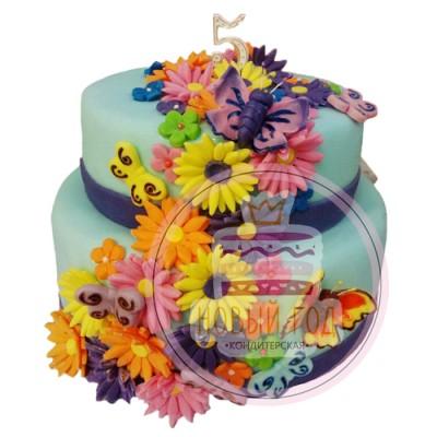 Торт «Герберы»